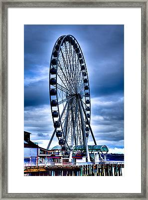The Seattle Great Wheel Framed Print by David Patterson