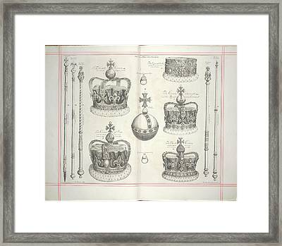 The Second Plate Of The Regalia Framed Print by British Library