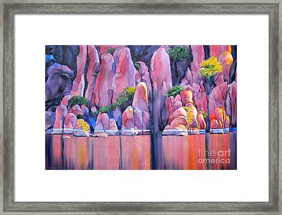 The Secret Cove Framed Print by Robert Hooper