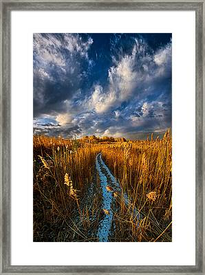 The Secret Path Framed Print by Phil Koch