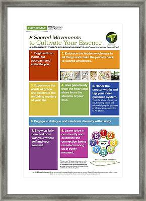 #4 The Essence Map Framed Print by Dawn Richerson