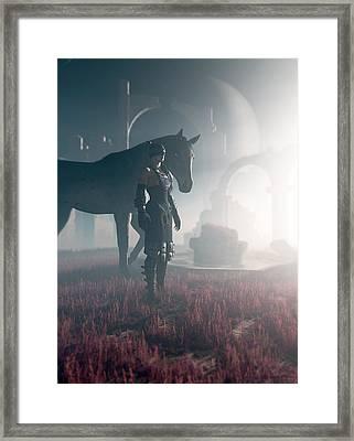 The Seer Framed Print by Cynthia Decker