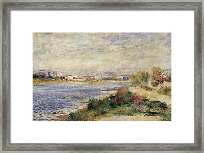 The Seine In Argenteuil Framed Print by Pierre-Auguste Renoir