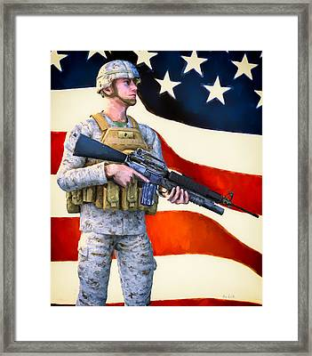 The Sentry Framed Print by Bob Orsillo
