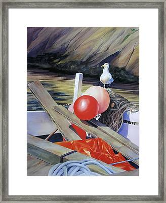 The Sentry Framed Print by Sue Stephan Foster
