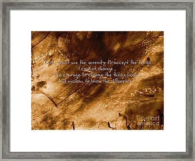 The Serenity Prayer 1 Framed Print by Andrea Anderegg