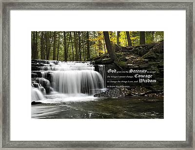 The Serenity Prayer Framed Print by Christina Rollo