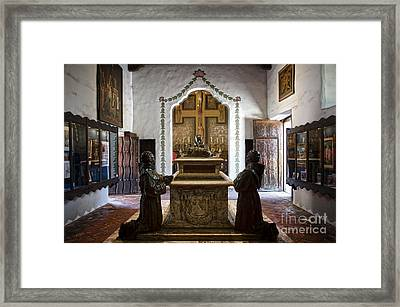 The Serra Cenotaph In Carmel Mission Framed Print by RicardMN Photography