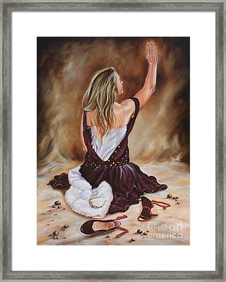 The Servant Princess Framed Print by Ilse Kleyn