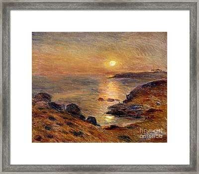 The Setting Of The Sun At Douarnenez61 Framed Print by Pierre Auguste Renoir