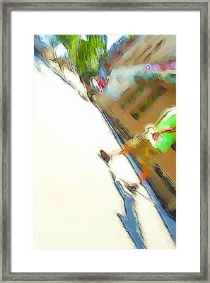 The Shadow Follows Framed Print by Karol Livote