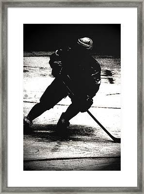 The Shadows Of Hockey Framed Print by Karol Livote