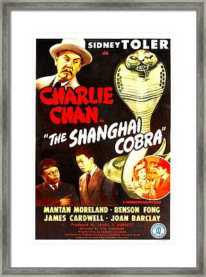 The Shanghai Cobra, Aka Charlie Chan In Framed Print by Everett