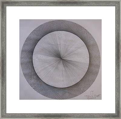 The Shape Of Pi Framed Print by Jason Padgett