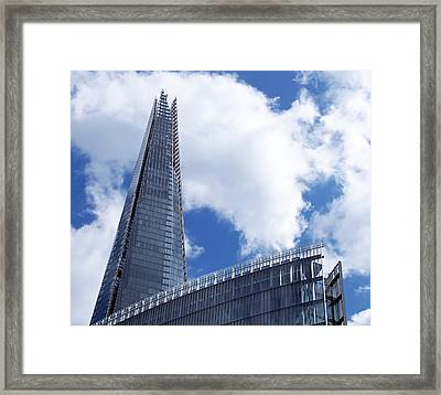 The Shard And The Place - London Framed Print by Rona Black