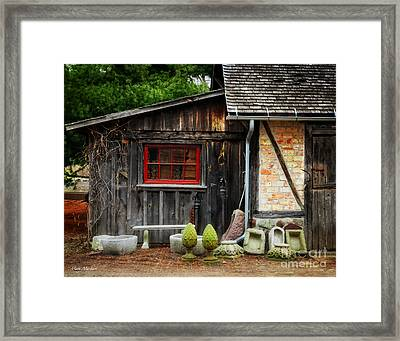The Shed At Monches Farm Framed Print by Mary Machare