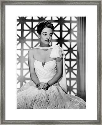 The Shining Hour, Joan Crawford Framed Print by Everett