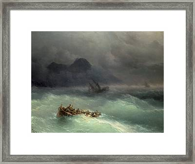 The Shipwreck Framed Print by Ivan Konstantinovich Aivazovsky