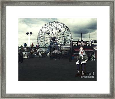 The Show Is Over Framed Print by Jutta Maria Pusl