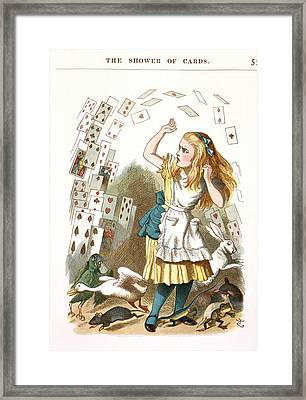 The Shower Of Cards Framed Print by British Library