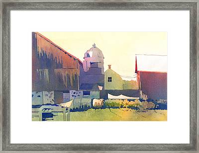 The Side Of A Barn Framed Print by Kris Parins
