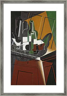 The Sideboard, 1917 Oil On Plywood Framed Print by Juan Gris