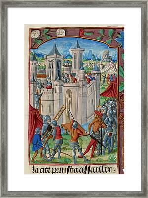 The Siege Of Acre Framed Print by British Library