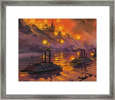 The Siege Of Vicksburg Framed Print by Angus McBride