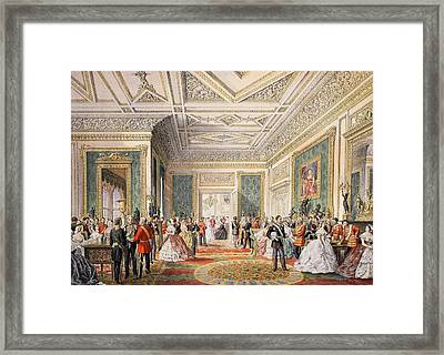 The Signing Of The Marriage Attestation Framed Print by English School