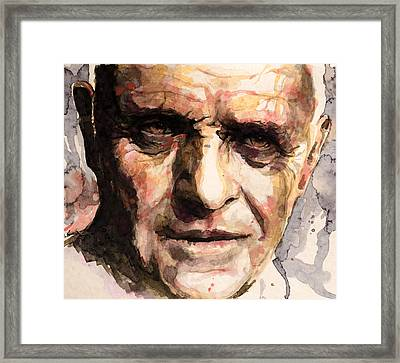 The Silence Of The Lambs Framed Print by Laur Iduc