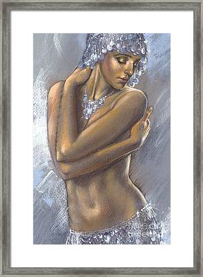 The Silver Dancer Crop Framed Print by Zorina Baldescu