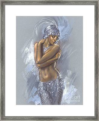 The Silver Dancer Framed Print by Zorina Baldescu