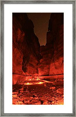 The Siq -- Petra Framed Print by Stephen Stookey