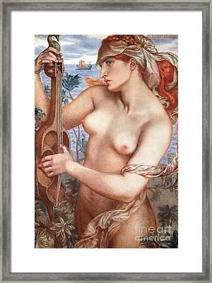 The Siren Framed Print by Dante Charles Gabriel Rossetti