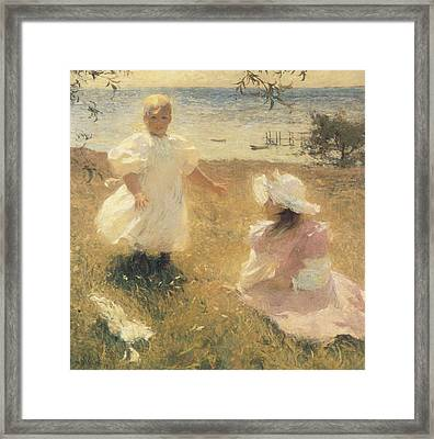The Sisters Framed Print by Frank Benson