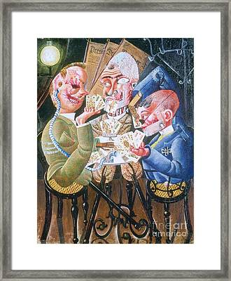 The Skat Players Framed Print by Pg Reproductions