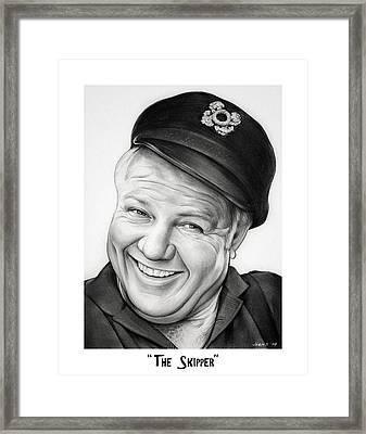 The Skipper Framed Print by Greg Joens