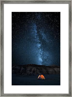 The Sky Is My Blanket Framed Print by John Fan