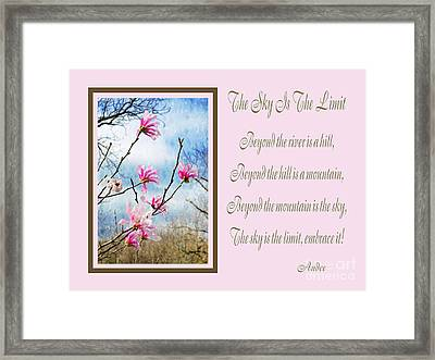 The Sky Is The Limit H 1 Framed Print by Andee Design