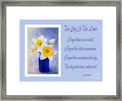 The Sky Is The Limit H 2 Framed Print by Andee Design
