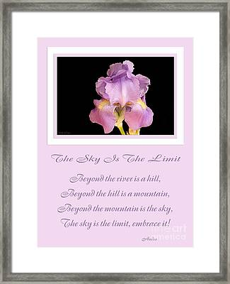 The Sky Is The Limit V 10 Framed Print by Andee Design