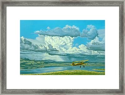The Sky-stearman Biplane Framed Print by Paul Krapf