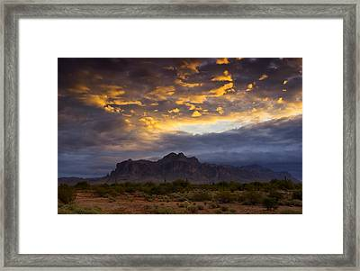 The Sky's Aglow  Framed Print by Saija  Lehtonen