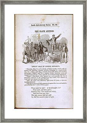 The Slave Auction Framed Print by British Library