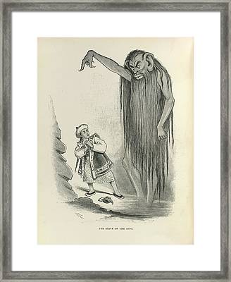 The Slave Of The Ring Framed Print by British Library