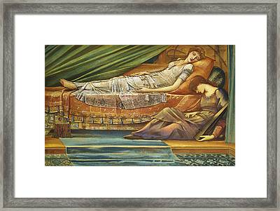 The Sleeping Princess Framed Print by Sir Edward Burne-Jones