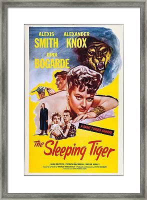 The Sleeping Tiger, Us Poster, Alexis Framed Print by Everett