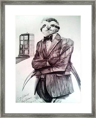 The Sloth Doctor Framed Print by Neal Cormier