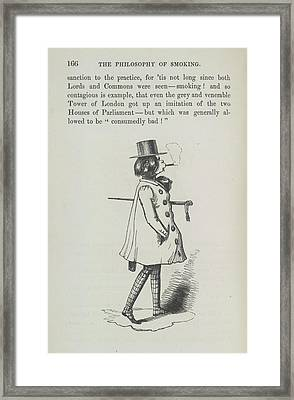 The Smoker Framed Print by British Library