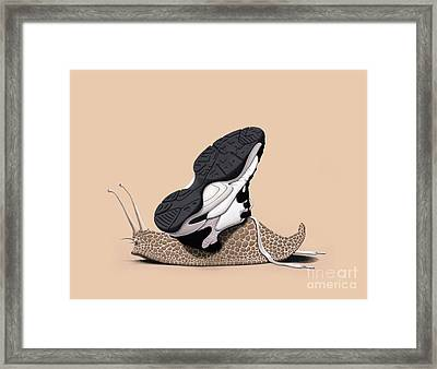 The Sneaker Colour Framed Print by Rob Snow
